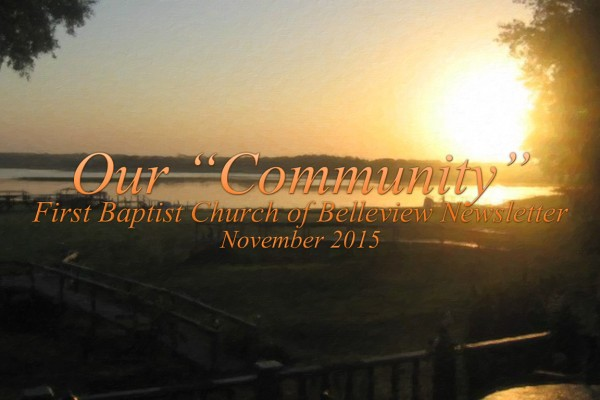 First Baptist Church of Belleview November 2015 Newsletter